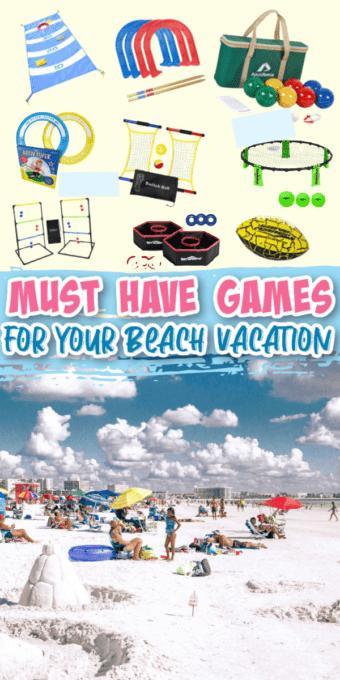 Beach games and outdoor activities