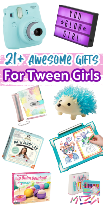 Want the best gifts for tween girls in 2020? From colorful Instax cameras to DIY bath bomb kits, these are the holiday gifts that your tween really wants for the holidays! #giftsfortweengirls #tweengirlgifts #giftideasfortweens