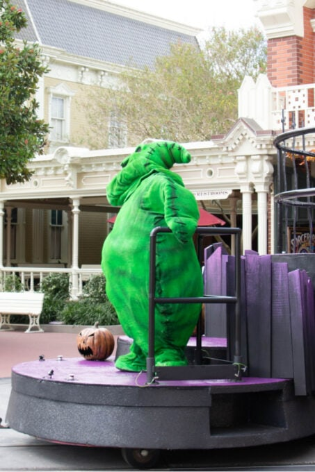 Oogie Boogie makes an appearance on Main Street