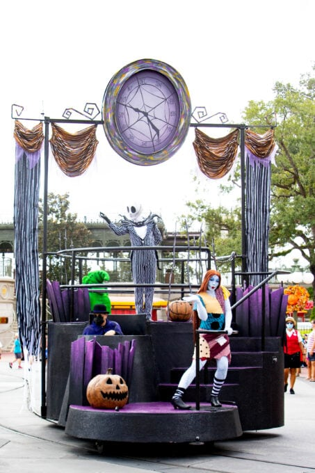 Fall fun at Disney World includes a cavalcade with Jack Skellington and Sally