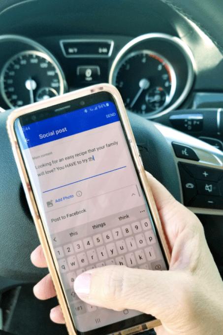 Creating-social-media-post-on-phone