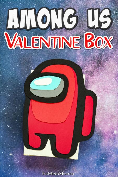 Among Us themed valentine box