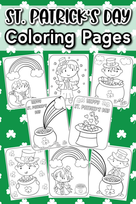 St. Patrick's Day Coloring Pages Pin