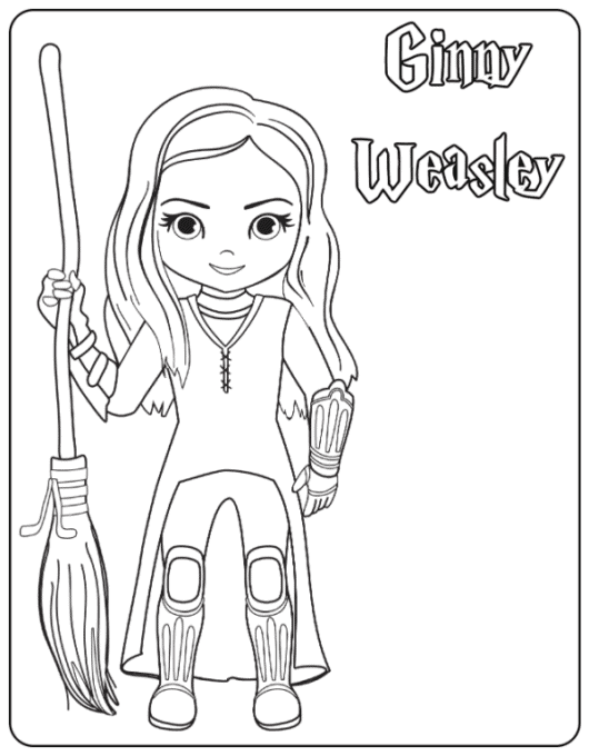 Ginny Weasley coloring page