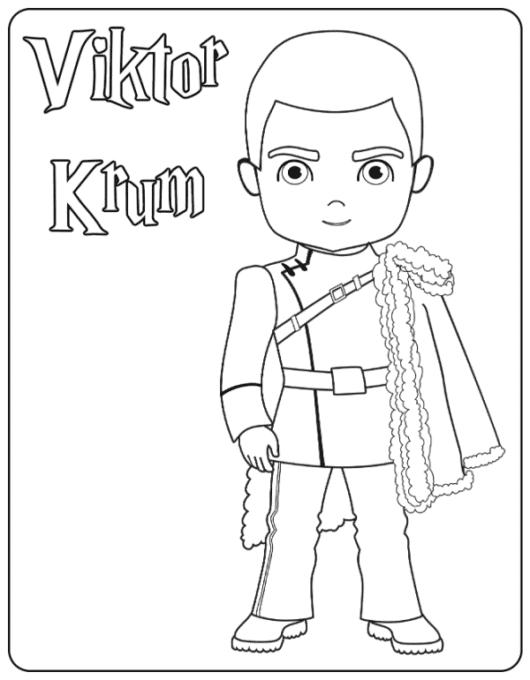 Viktor Krum coloring page