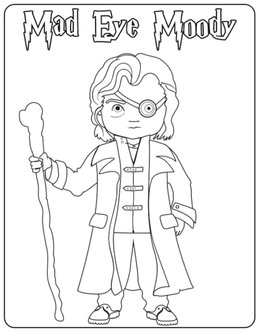 Mad Eye Moody coloring page