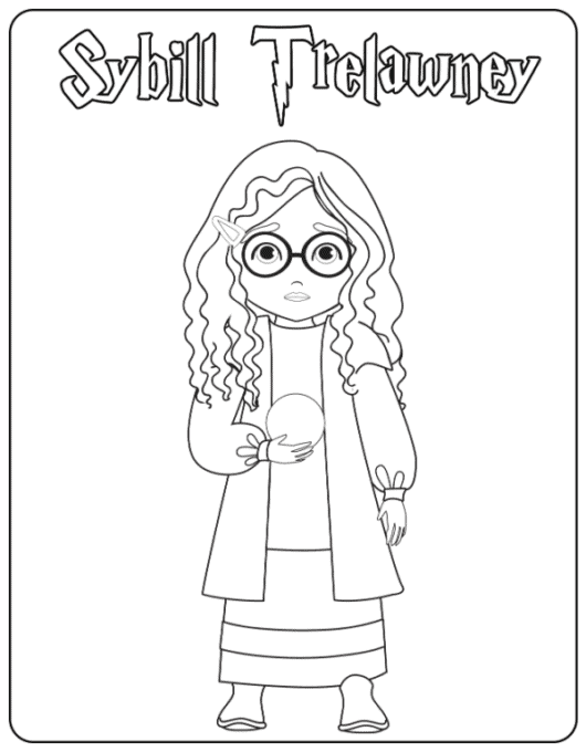 Sybill Trelawney coloring page