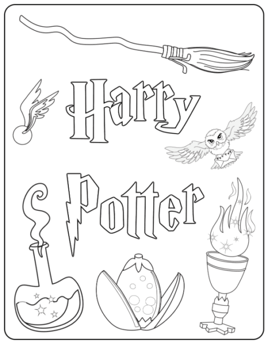 Harry Potter Coloring Pages Gallery