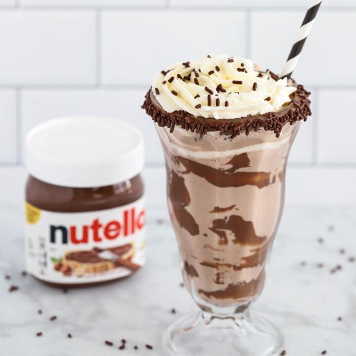 Easy Nutella Milkshake