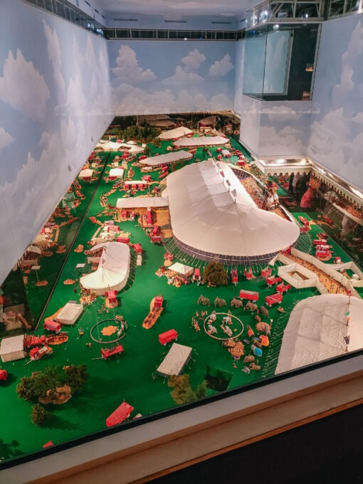 Miniature circus from above