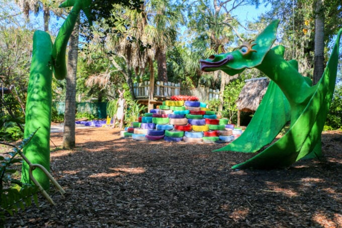 Snuffy the Dragon at the Sarasota Children's Museum