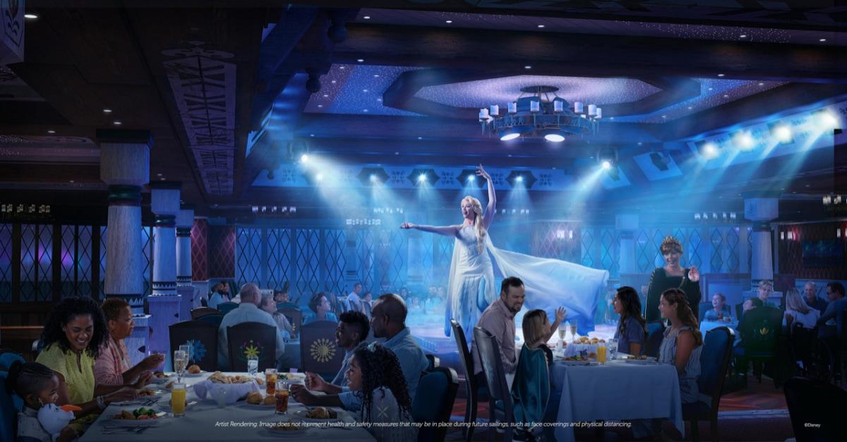 Arendelle Frozen Dining Adventure on the Disney Wish