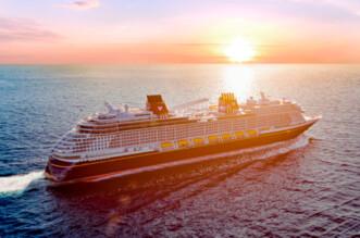 Disney Wish Sailing Into The Sunset