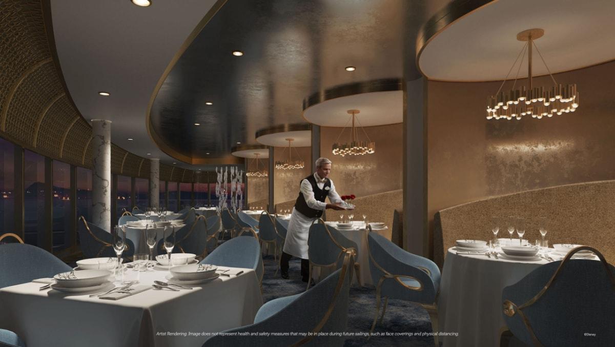 Enchante restaurant on the Disney Wish