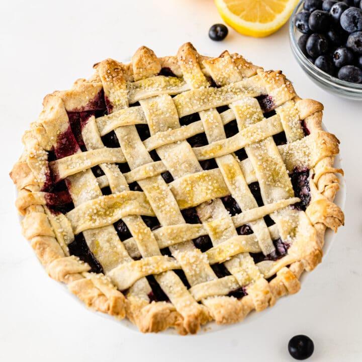 Pie crust with lattice top
