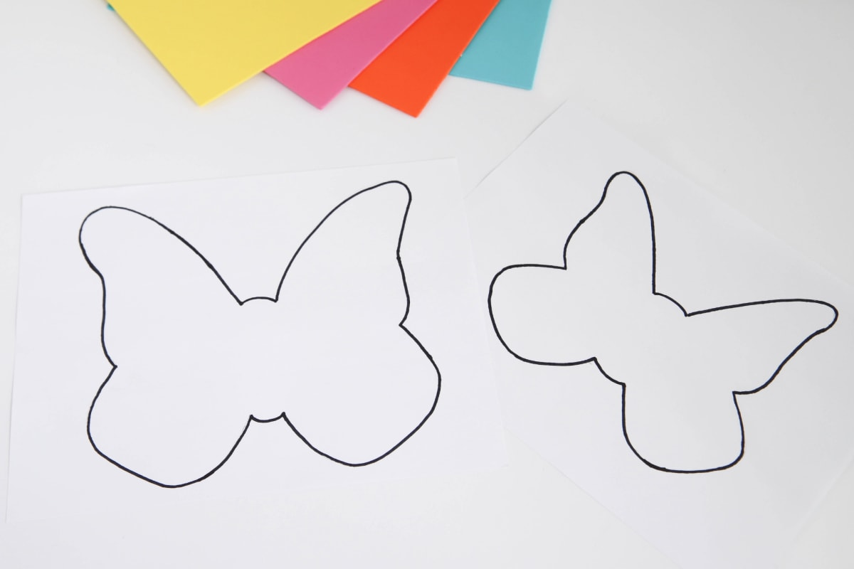 Templates for butterfly toilet paper roll craft