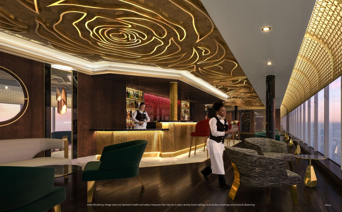 The Rose Lounge on the Disney Wish