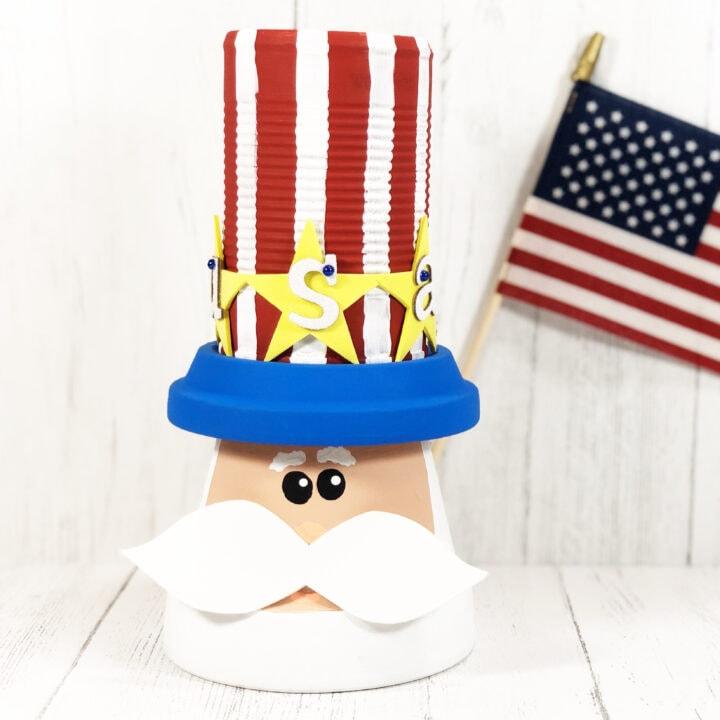 Uncle Sam Clay Pot Craft