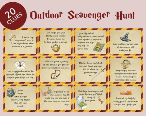Harry Potter Scavenger Hunt