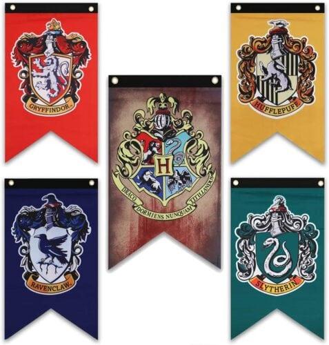 Hogwarts House wall banners
