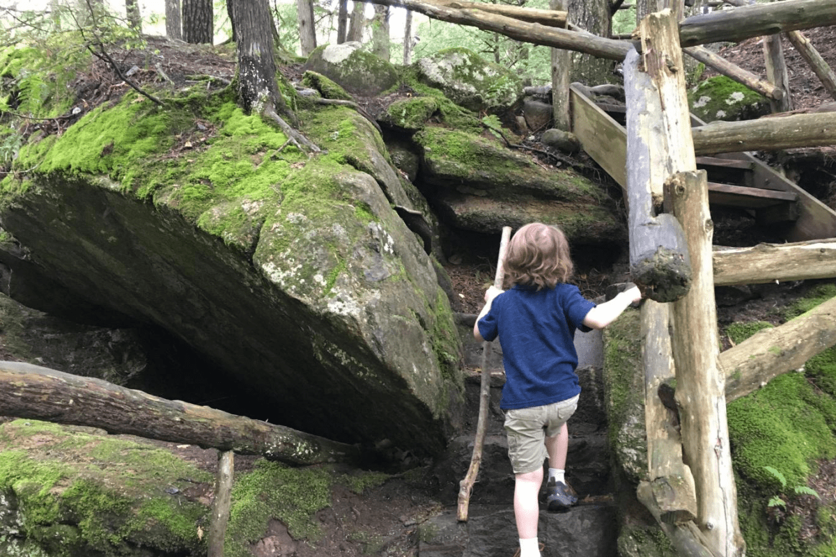 Child On Self Guided Trail