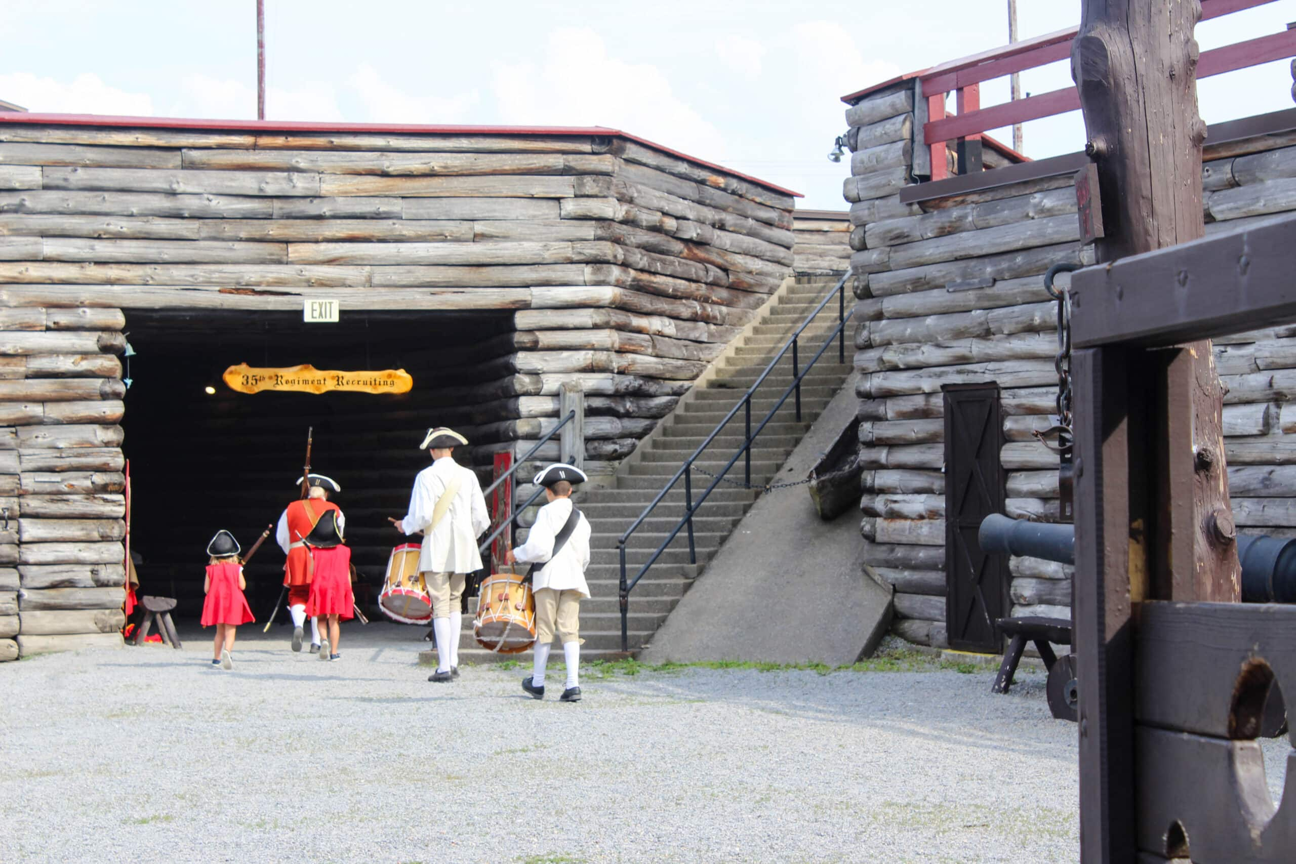 children participating in activities at Fort William Henry