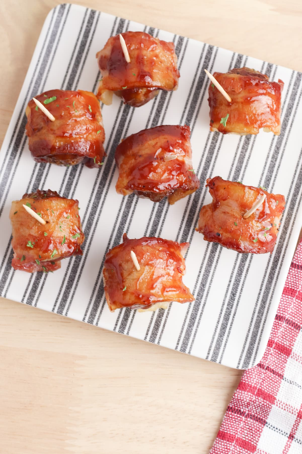Bacon wrapped bbq meatballs from above