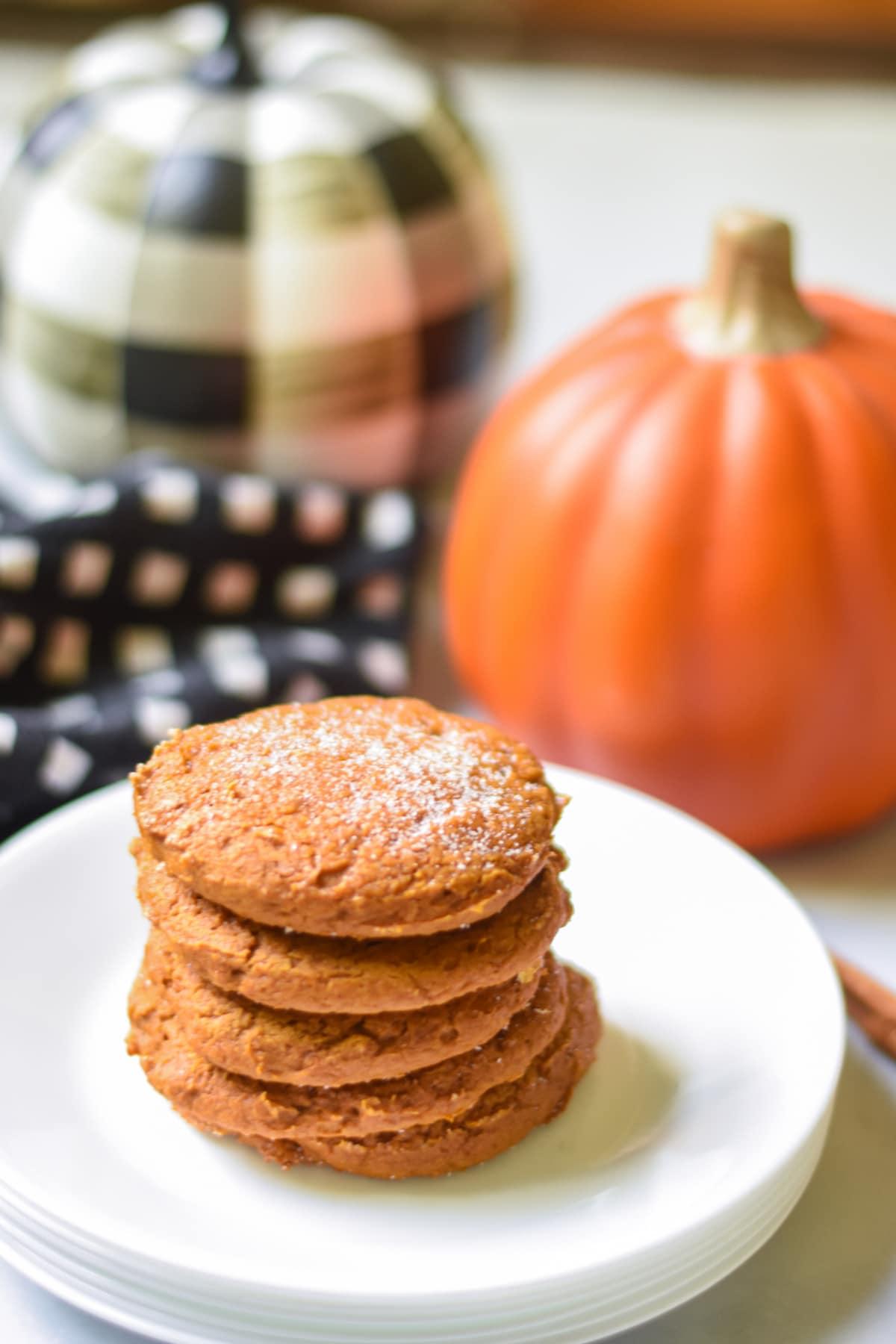 Pumpkin cake mix cookies with pumpkins