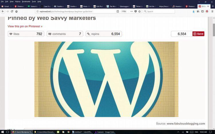 Power pin WordPress