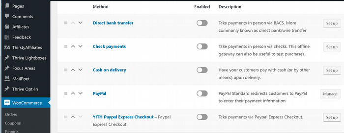 woo payment options