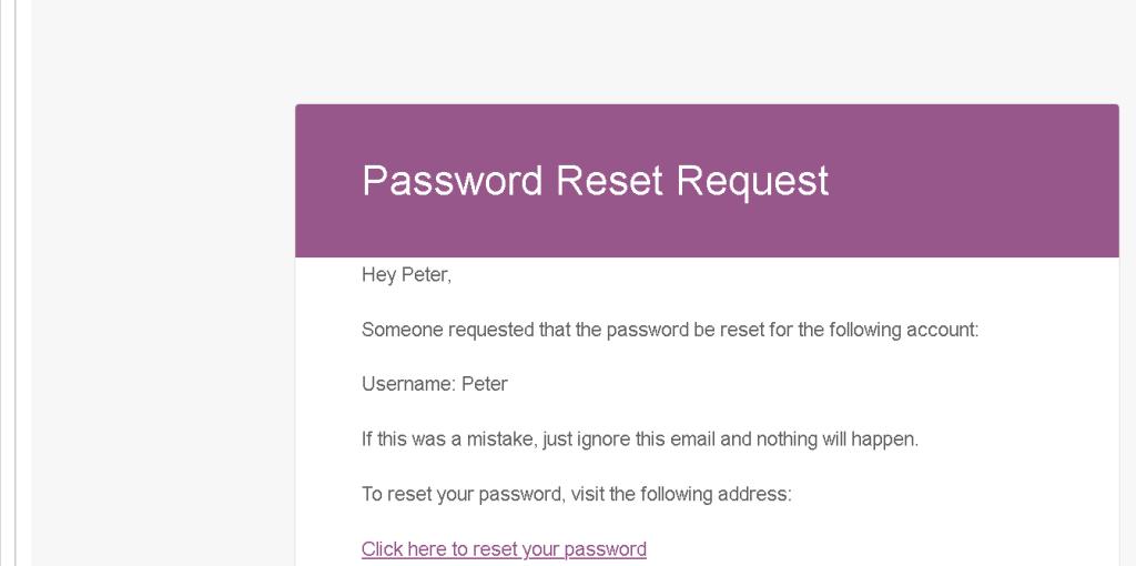 funnelxpert password reset marked spam