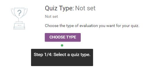 quiz type select