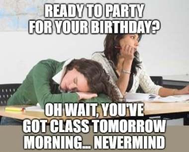 Happy Birthday Teacher Meme