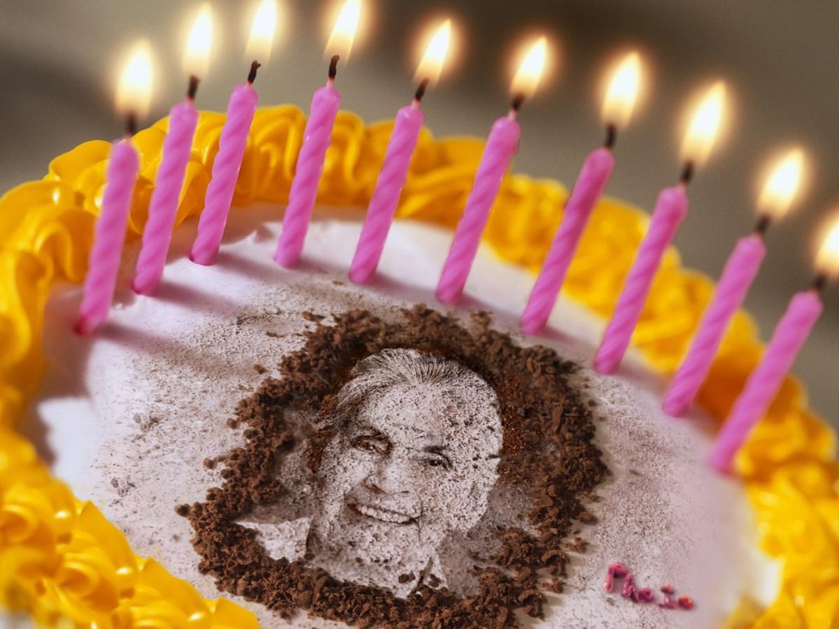 Personal Photo On Birthday Cake