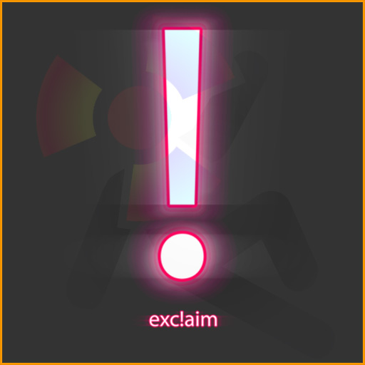Excla!m: Exclamation point neon design.