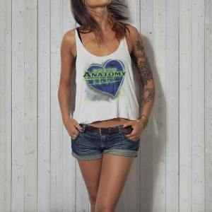 Grey's Anatomy TV Fan: Women's white tanktop.