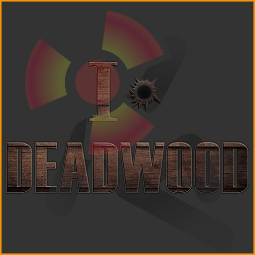 I Love Deadwood (Bullet Hole), HBO Deadwood TV series fan design for CafePress.