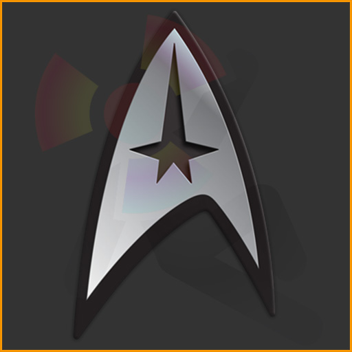 Star Trek command badge design for the CafePress Star Trek fan portal.