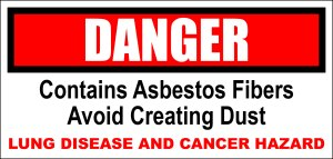 DANGER: Contains Asbestos Fibers, Avoid Creating Dust. LUNG DISEASE AND CANCER HAZARD. FREE graphic download from Funny Graphic T-Shirts.