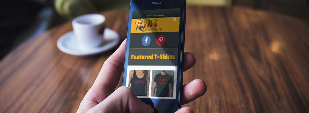 New mobile responsive Funny Graphic T-Shirts website.