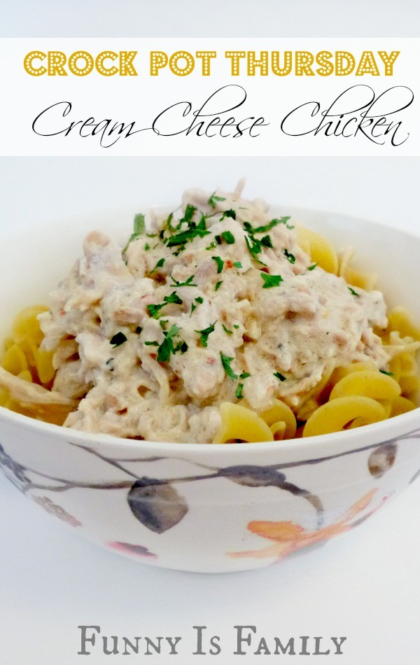 Throw this crockpot chicken recipe in the slow cooker in the morning, and you'll be dining on this delicious crockpot cream cheese chicken for dinner!