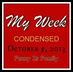 Just Add Water: My Week Condensed 10/5/13