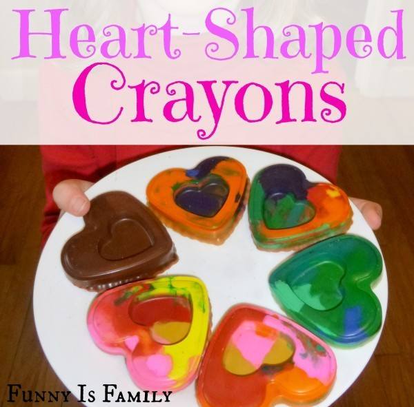 Easy Heart-Shaped Crayons