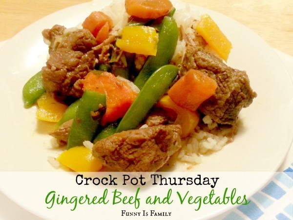 Crock Pot Gingered Beef and Vegetables