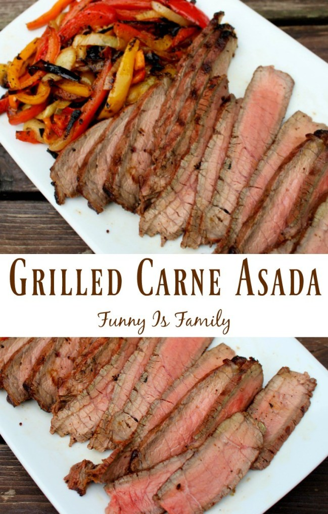 The marinade gives this Grilled Carne Asada incredible flavor! You have to try this bbq beef recipe. It'll knock your socks off!