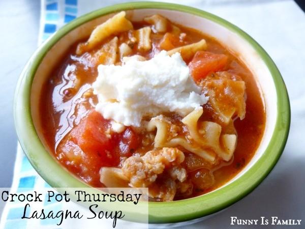 This Crockpot Lasagna Soup is delicious!