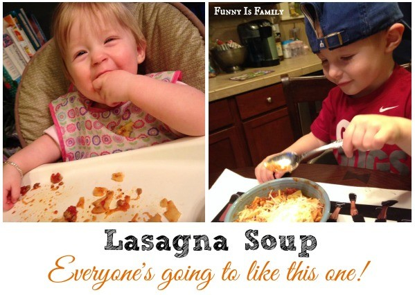 Kids love lasagna soup!