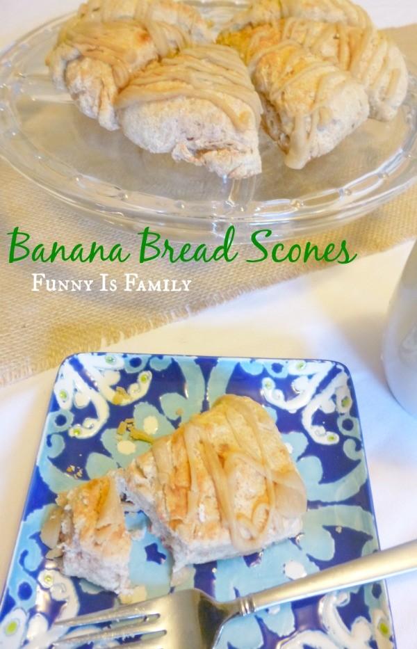 Banana Bread Scones from @FunnyIsFamily