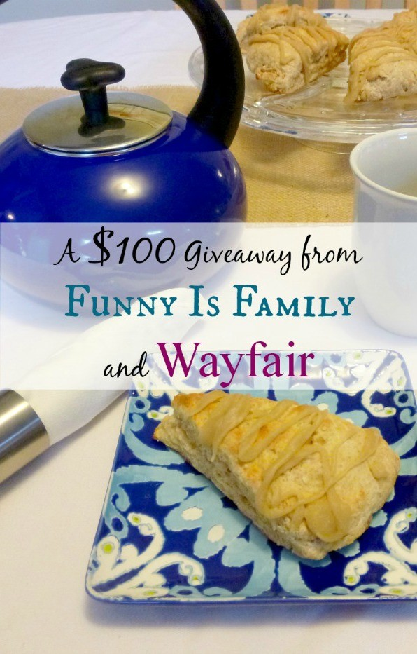 $100 Giveaway from @funnyisfamily and @wayfair