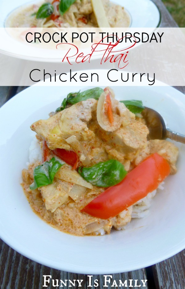 Crock Pot Red Thai Chicken Curry from @FunnyIsFamily.
